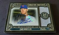 2016 Topps Museum Signature Swatches Zack Wheeler Mets Certified Autograph Relic