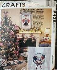 McCall's Crafts pattern P438 A Country Angel Christmas Ornaments Stockings uncut