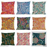 "Vintage Print Home Decor Floral Linen Cotton Cushion Cover Pillow Case Throw 18"""