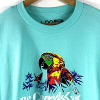 LRG Lifted Research Group Mens Graphic T-Shirt Green 100% Cotton X-Large Parrot