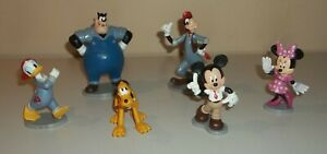 Lot of Mickey Mouse Car Wash PVC Figures / Cake Toppers - Pete, Goofy, More