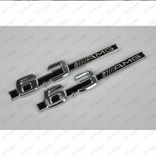3D ABS Silver 6.3 AMG Logo Rally Racing Front Rear Emblem Badge Sticker Decal