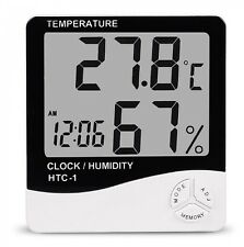 Room Termometer With Clock Humidity
