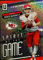 2019 Unparalleled Patrick Mahomes II Spirit of the GAME Refractor #SG-PM Chiefs