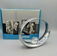 2009 Nambe Metal Alloy Glass Globe Bud Vase MT0038 Neil Cohen No Orchid BR20 Box