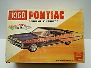 VTG MPC 1968 PONTIAC BONNEVILLE HT KIT # 968 1/25 BUILT NICE WITH EXTRAS,BOX,