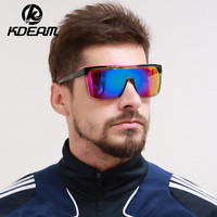 Kdeam Mens Sport Large Oversize Sunglasses Outdoor Cycling Riding Goggles New
