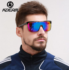 Kdeam Mens Sport Large Oversize Sunglasses Outdoor Cycling Summer Goggles New