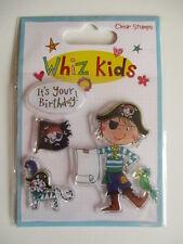 Whiz Kids chiaro Francobolli-Pirata, è il tuo Compleanno, Bandiera, Cat