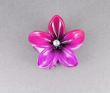 Dark Pink Purple ombre plumeria hawaiian flower barrette hair clip claw clamp