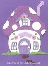 DIE CUT - 1 X MUSHROOM HOUSE (KIT) PURPLE