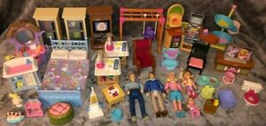LOT Fisher Price Loving Family Dollhouse Furniture PEOPLE Mom Dad Baby Girl Toy