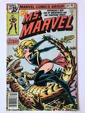 Ms Marvel #20 Marvel Comics 1st Lizard People & New Costume App October 1978 VF