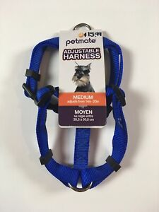 PETMATE 5/8 x 14-20 INCH - BLUE ADJUSTABLE HARNESS - NEW