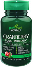 Puremark Cranberry Plus Probiotic Tablets, 60 Count