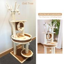 Cat Tree Climbing Frame Tower Condo Scratching Kitten Pet House Activity Toy UK