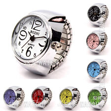 Creative Fashion Women's Steel Round Elastic Quartz Finger Ring Watch