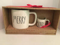 Rae Dunn MERRY Mug & Ornament Set Christmas NEW By Magenta