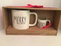 Rae Dunn MERRY Mug & Ornament Set Christmas NEW By Magenta