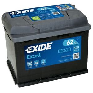 Exide EB620 Excell 12V 62Ah 540A Autobatterie