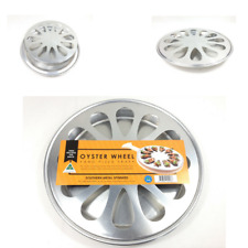 Oyster Wheel Spun Metal Oyster Cooking Oyster Serving Tray Pizza Tray SA Made