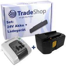 2in1 Set AKKU 24V 3000mAh Ni-MH + LADEGERÄT mit USB für Hilti UH240-A WSC55-A24