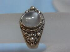 925er Silber ring mit Mond Steinen Ringg 53,5 Rgk 8,9mm durchmesse Gew 3,93 gr