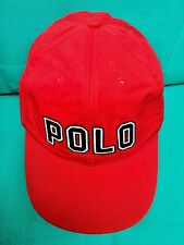 Vintage Polo Ralph Lauren Hat Big Spell Out Red Cap NWT