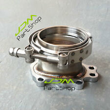 """For T25 T28 GT25 GT28 Turbo Downpipe Flange Adaptor 8 Bolt to 3.0"""" V-Band Clamp"""