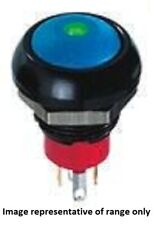 Apem ILLUMINATED PUSH BUTTON SWITCH 5A Momentary SPST, Solder BLUE/RED