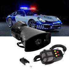 100W Loud Car Warning Alarm Police Fire Siren Horn Loud Speaker MIC 5 Sound -12V