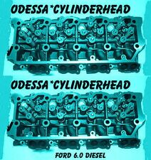 NEW 2 FORD 6.0 TURBO DIESEL F350 CYLINDER HEADS 20mm CAST#613 ONLY 06&UP
