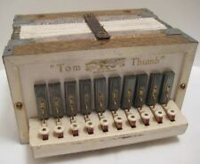 Old Antique German Tom Thumb Childs Miniature Accordian - Instrument Plays WELL!