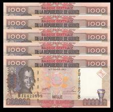 Lot 5 PCS, Guinea 1000 Francs, 2006, P-40, UNC