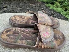 Under Armour Slides Flip Flops 4Y/36 Camo Excellent Condition