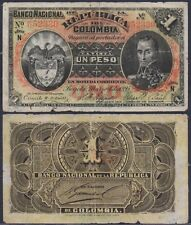 COLOMBIA P234a***1 PESO***ND 04-03-1895***G***USA SELLER