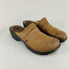 Born Brown Nubuck Mules Shoes - Women's 10 M/W - W61755 CQJ10