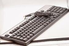 Hewlett Packard KU-0316 Black/Silver USB Wired Keyboard Hebrew