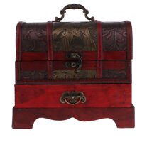 1pc Vintage Jewelry Storage Box Case Chest Organizer Holder Home Decor