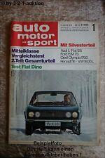 AMS Auto Motor Sport 1/68 Alfa Romeo Renn GTA Fiat Dino Coupe Audi L
