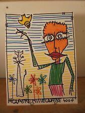 Art Contemporain Art Brut Art Singulier 4004 Oeuvre originale signée JC 1-2-18