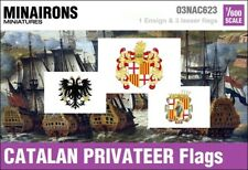 Minairons 1:600 Age of Sail - 17th century Catalan Privateer flags