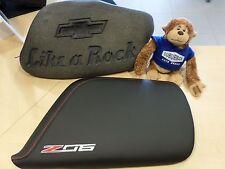 2015 - 2016 Corvette Center Console Lid, Z06 Logo, Black w Red stitch mulan