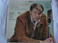 GLEN CAMPBELL GENTLE ON MY MIND VINYL LP 1967 CAPITOL RECORDS CATCH THE WIND, EX