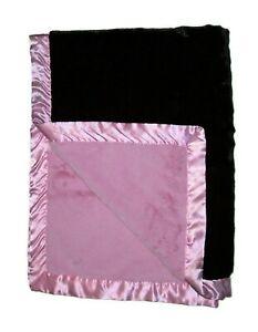 Koala Baby Pink Dark Brown Thick Plush Blanket Satin Trim Security Lovey