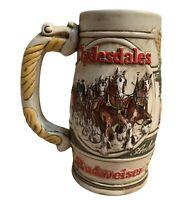Vintage 1983 Budweiser Clydesdale Anheuser Busch Ceramarte Beer Stein