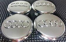 4 pcs, Wheel Emblem Center, Hub Caps, Audi Gray, 77 MM Fit: Q7