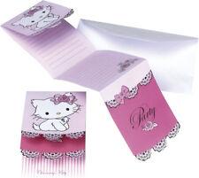 CHARMMY Hello Kitty Kindergeburtstag 6 Einladungskarten Einladungen NEU