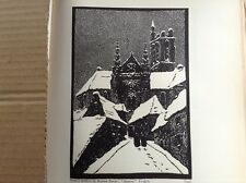 1920s Woodcut print Auxerre by Gustave Zevort