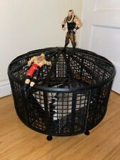 WWE MATTEL ELIMINATION CHAMBER CAGE WRESTLING PLAYSET WITH RING WRESTLING WWF